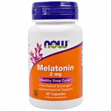 Антиоксидант Now Melatonin 3 mg 60 капс